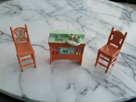Fisher Price Loving Family Kitchen Counter Sink and Chairs  - $12.00