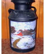 Collectible Painted Vintage Milk Can Winter  - $199.00