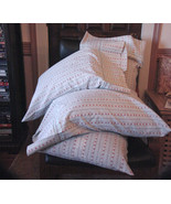 Embellished Pillow Case Set/Turquoise Flannel F... - $25.00