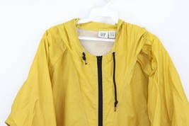 Vintage 90s Gap Mens XL Hooded Nylon Windbreaker Anorak Jacket Coat Yellow - $39.55