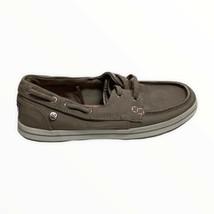 BOBS from Skechers Women's Flexy High Tide Boat Shoe Size 5 Dark Taupe S... - $25.73