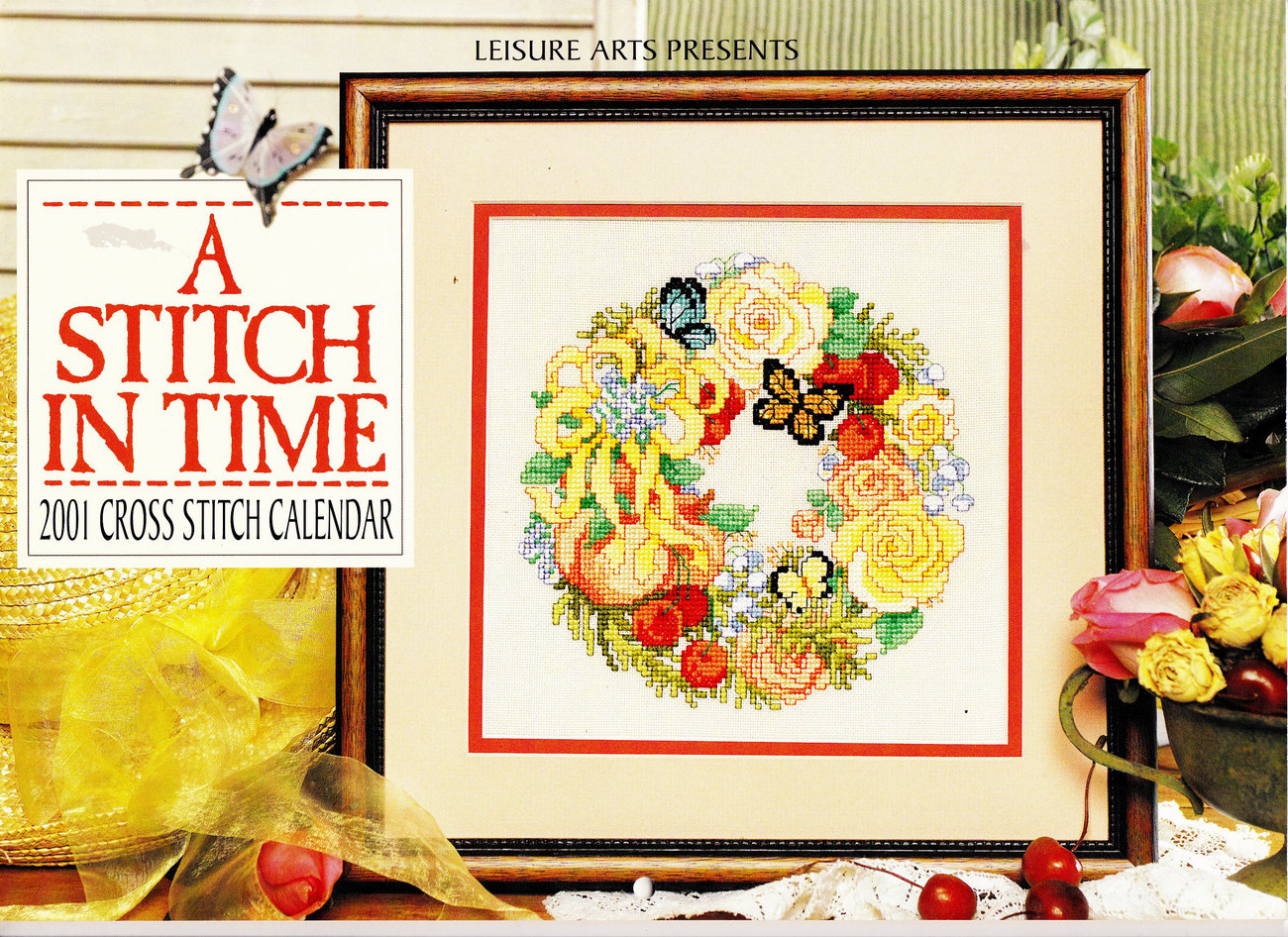 COUNTED CROSS STITCH STITCH IN TIME LEISURE ARTS BUTTRFLIES FLORALS BUNNIES DUCK