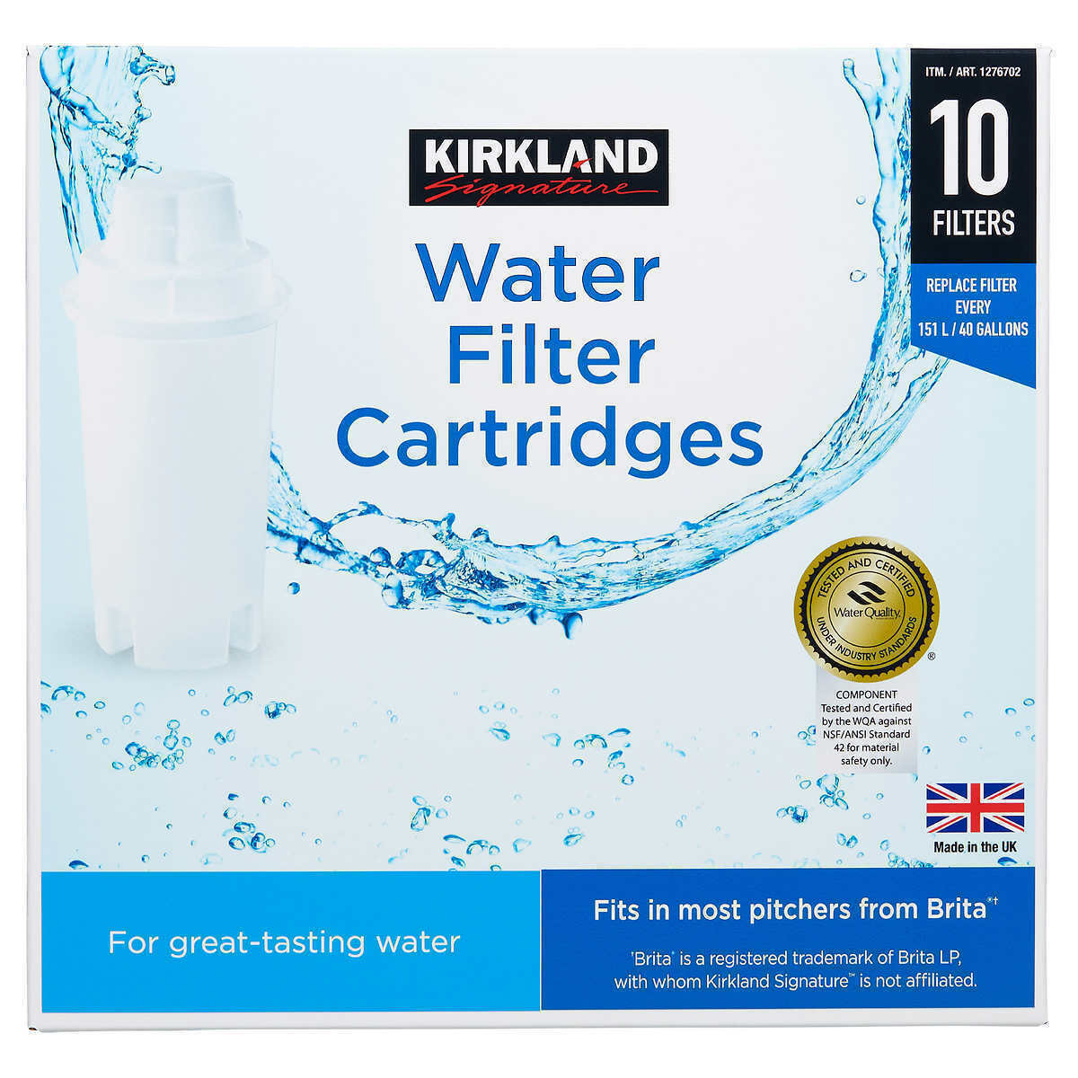 Primary image for NEW Kirkland Signature Water Filter Cartridge, 10-pack set **FREE SHIPPING**