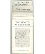 The Month at Goodspeed's lot of 7 issues rare book store documents 1946 ... - $45.00
