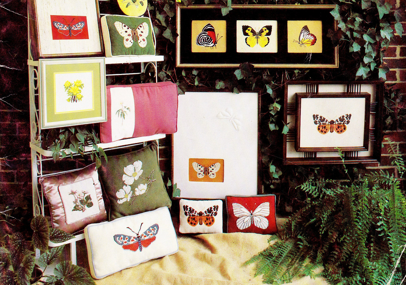 COUNTED CROSS STITCH THIS IS SPRINGTIME BUTTERFLIES DOGWOOD MOTHS