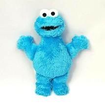 "Sesame Street Cookie Monster 10"" Plush 2013 Hasbro Blue  - $9.46"