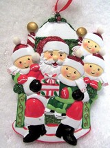 Christmas Ornament Santa With Children On Lap Ribbon Hanger Break Resist... - $8.79
