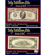 $10.00 Series1934-D F.R.N.  Serial # E64051331B - $44.00