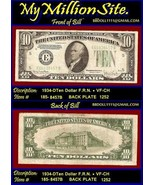 $10 1934-D TEN DOLLAR F.R.N.  Serial # E66838457B - $59.68