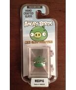 ANGRY BIRDS -ROVIO- MINI HAND CRAFTED GLASS SCULPTURE - MEDPIG #48003 LI... - $8.90