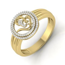 Om Design White Diamond Band Gift For Women Jewelry Anniversary Beautiful Ring  - $119.99