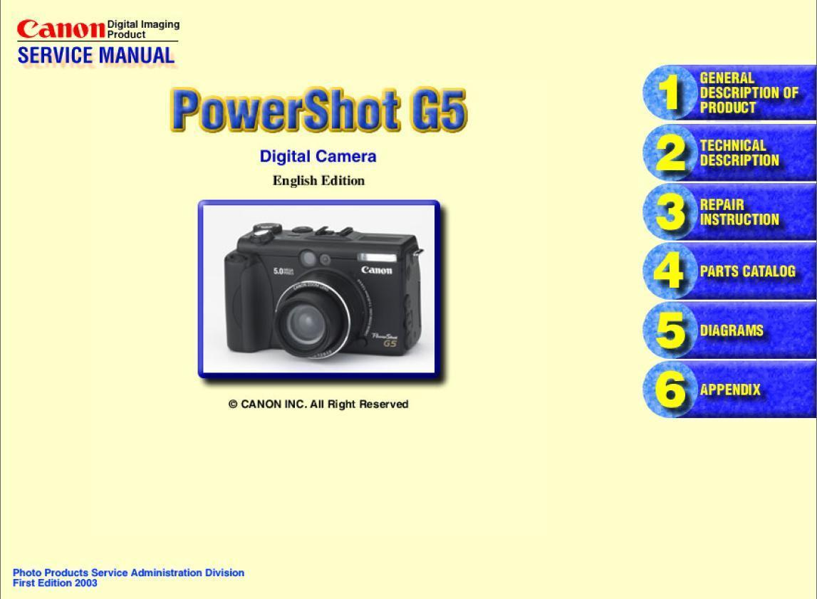 canon powershot g5 digital camera service and similar items rh bonanza com Canon PowerShot S2 Is Troubleshooting Canon PowerShot Is S2 Parts