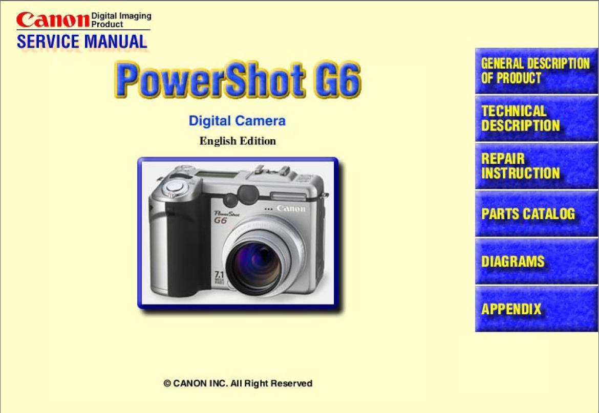 canon powershot g6 digital camera service and similar items rh bonanza com Canon PowerShot G6 Canon G6 Military