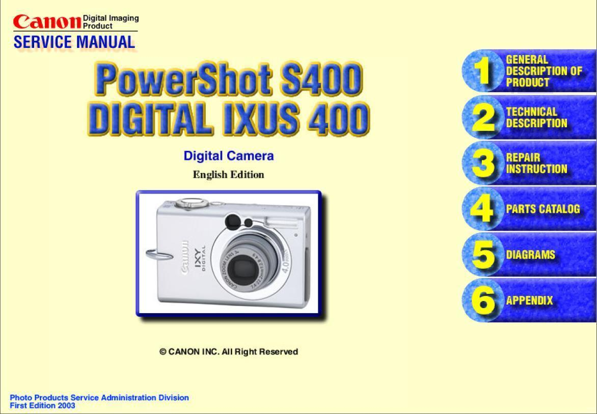 canon powershot s400 ixus 400 service repair and 50 similar items rh bonanza com canon ixus 95 is service manual canon ixus 95 is service manual