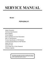 ESA PDP4294LV1 PLASMA TV SERVICE REPAIR MANUAL - $7.95