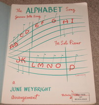 The Alphabet Song Sheet Music - German folk - 1952  Piano - $6.99