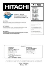 HITACHI L42VP01C L42VP01S L42VP01U TV SERVICE MANUAL - $7.95
