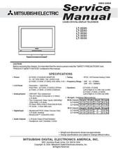 MITSUBISHI LT-3040 LT-3050 LCD SERVICE REPAIR MANUAL - $7.95