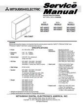 MITSUBISHI WT-46807 WS-55807 WS-65807 TV SERVICE MANUAL - $7.95