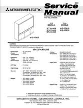 Mitsubishi WT-46809 WS-55809 WS-65809 Service Manual 18 - $5.39