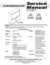 MITSUBISHI WS-55859 WS-65869 WS-55909 SERVICE MANUAL 19 - $7.95