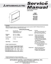 Mitsubishi WS-A48 VS-A50 WS-A55 WS-A65 Service Manual - $5.39