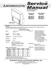 MITSUBISHI WS-48313 WS-55313 WS-65313 SERVICE MANUAL 22 - $7.95