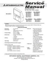 MITSUBISHI WS-73513 WS-48613 WS-55613 SERVICE MANUAL 23 - $7.95