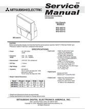 Mitsubishi WS-48315 WS-55315 WS-65315 Service Manual 24 - $5.39