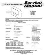 MITSUBISHI WS-55517 WS-65517 WS-73517 SERVICE MANUAL 27 - $9.95