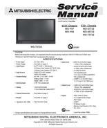 MITSUBISHI WD-65732 WD-73732 SERVICE MANUAL V33Y V33+ - $9.95