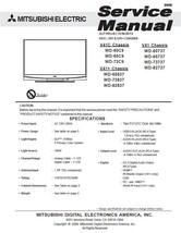 Mitsubishi WD-60C9 WD-65C9 WD-73C9 Service Manual - $5.39