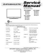 MITSUBISHI WD-73737 WD-82737 SERVICE REPAIR MANUAL - $7.95