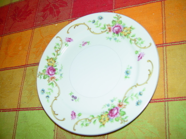 """KONGO CHINA S.T.S HAND PAINTED DRESSERT OR BREAD SMALL PLATE 6 1/4"""""""