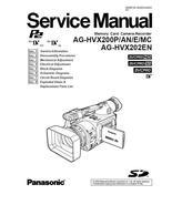 PANASONIC AG-HVX202EN AG-HVX200 SERVICE REPAIR MANUAL - $5.95