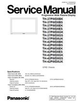 PANASONIC TH-37PWD8GK TH-37PWD8GS SERVICE REPAIR MANUAL - $7.95