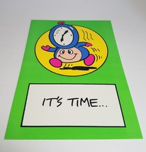 """Vintage Super Mario Brothers Greeting Card Nintendo 1989 - """"It's Time..."""" - $9.99"""