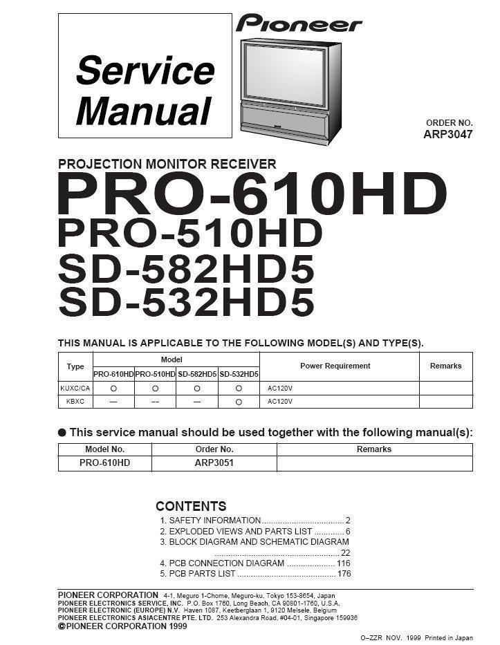 Pioneer Repair Manual: 9 listings