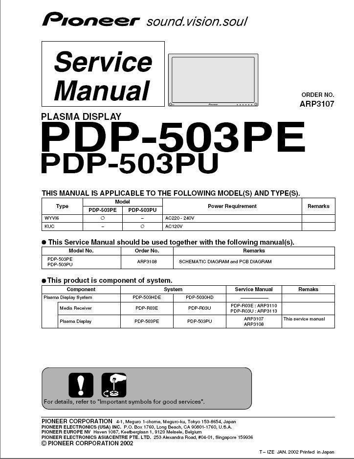Pioneer elite pro-1150hd manuals.