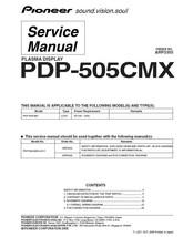 Pioneer PDP-505CMX Plasma Tv Service Repair Manual Oem - $7.95