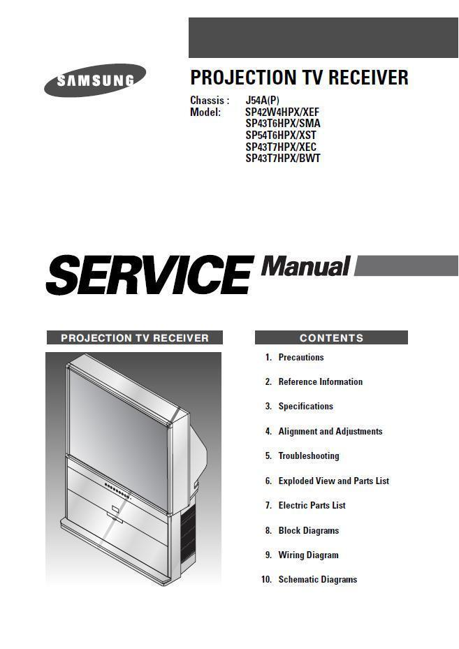 samsung sp43t7hpx bwt tv service repair and 50 similar items rh bonanza com samsung dlp tv service manual samsung dlp tv repair manual