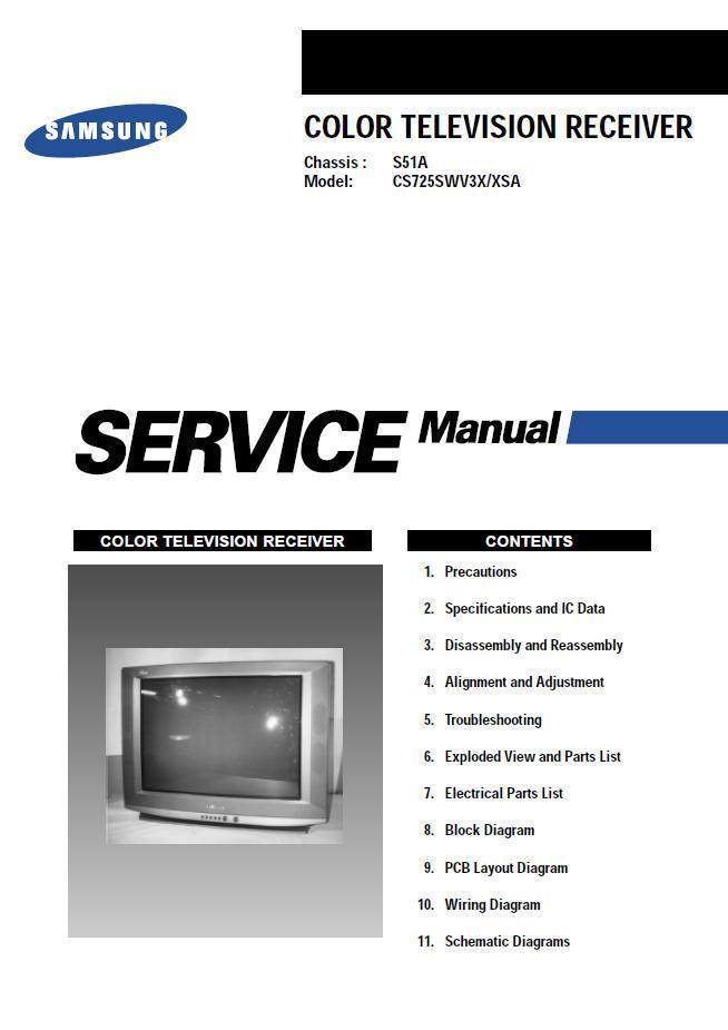 samsung cs725swv3x xsa tv service repair and 34 similar items rh bonanza com LN52A750R1FXZA Flat Screen
