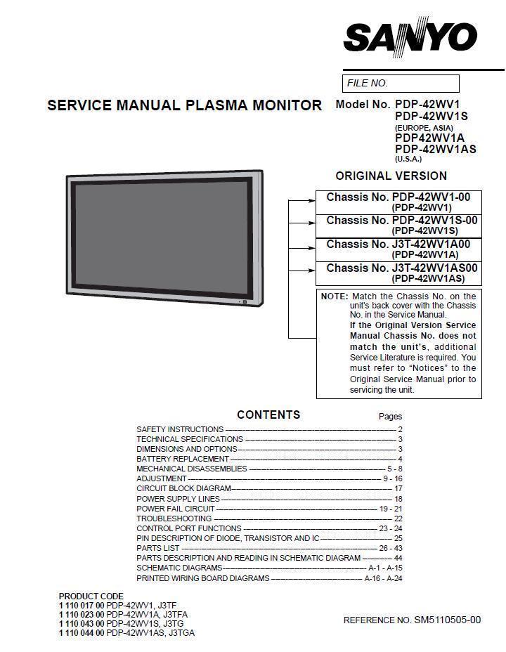 sanyo repair manual 1 listing rh bonanza com sanyo tv repair manual sony tv repair manual kdf50we655