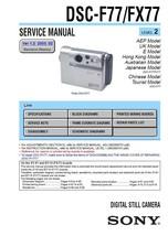 SONY DSC-F77 DSC-FX77 CAMERA SERVICE REPAIR MANUAL - $7.95