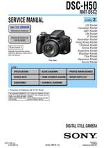 SONY DSC-H50 RMT-DSC2 CAMERA SERVICE REPAIR MANUAL - $7.95