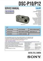 SONY DSC-P10 DSC-P12 CAMERA SERVICE REPAIR MANUAL - $7.95