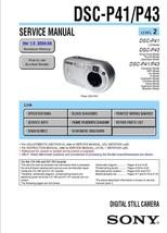 Sony DSC-P41 DSC-P43 Camera Service Repair Manual Oem - $7.95