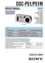 Sony DSC-P51 DSC-P51M Camera Service Repair Manual - $7.95