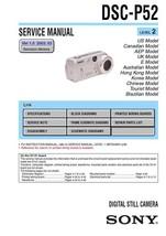 Sony DSC-P52 Digital Camera Service Repair Manual - $7.95