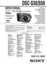 Sony DSC-S30 DSC-S50 Camera Service Repair Manual - $7.95